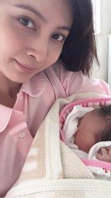 七夕に第1子女児を出産したことを報告した加藤夏希(写真はブログより)