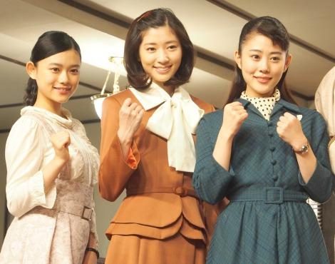 連続テレビ小説『とと姉ちゃん』スタジオ取材会に出席した(左から)杉咲花、相楽樹、高畑充希 (C)ORICON NewS inc.