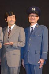 映画『だCOLOR?〜THE脱獄サバイバル』の初日舞台あいさつに出席した(左から)ココリコ・遠藤章造、金子傑監督 (C)ORICON NewS inc.