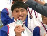 フィンスイミングW杯で銀メダルを獲得したオードリー春日俊彰