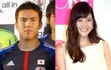 結婚を発表した長谷部誠選手(左)と佐藤ありさ(C)ORICON NewS inc.