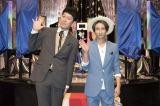 30日に放送されるNHK総合情報エンターテインメント『シンデレラ・テクノロジー』(後11:10)の収録後、囲み取材会に出席した小藪千豊、AAA・與真司郎(C)NHK