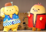『夏祭り in サンリオピューロランド』先行お披露目会に出席した(左から)ポムポムプリン、ぐでたま (C)ORICON NewS inc.