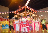 全員で盆踊り披露=『夏祭り in サンリオピューロランド』先行お披露目会 (C)ORICON NewS inc.