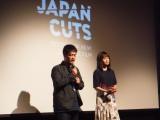 『第10回ジャパン・カッツ!日本映画祭』で舞台あいさつを行った(左から)沖田修一監督、前田敦子