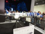 すでに運航中の「R2-D2」特別塗装機(模型) (C)ORICON NewS inc.