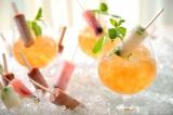 ホテル椿山荘東京のシャンパンガーデン(21日から)で初提供されるアイス×お酒の「アイスキャンディースプラッシュ」