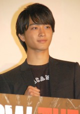 『HiGH&LOW THE MOVIE』初日舞台あいさつに出席した佐藤寛太 (C)ORICON NewS inc.