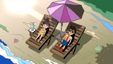 8月4日、NHK『LIFE!〜人生に捧げるコント〜』で放送されるアニメ「彦介・彦美の夏休み」より。アニメになっても破壊力抜群?(C)NHK