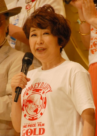 アニメ映画『ONE PIECE FILM GOLD』初日舞台あいさつに出席した田中真弓 (C)ORICON NewS inc.