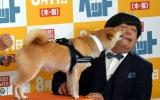映画『ペット』プレミアで犬にキスをされるバナナマン・日村勇紀 (C)ORICON NewS inc.