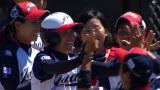 BSジャパンで世界女子ソフトボール選手権の決勝を中継。3位決定戦のカナダ戦で先制ホームランを打った山田恵里選手