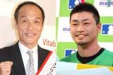 (左から)東国原英夫、青木宣親選手 (C)ORICON NewS inc.