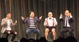 ルミネtheよしもとフリーライブの模様(左から)太田博久、斉藤慎二、たかし、斎藤司 (C)ORICON NewS inc.