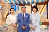 ともに司会を務める女優の菊川怜(左)とサブの梅津弥英子フジテレビアナウンサー(右)