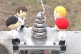 NEWSが実験で使用したうんちロケット(C)日本テレビ
