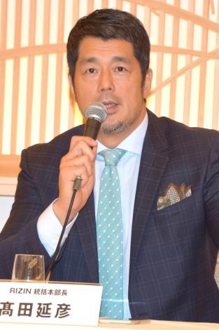 格闘技イベント『RIZIN』会見に出席した高田延彦 (C)ORICON NewS inc.