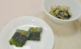 「韓国伝統のりアマニ油入」を使用したナムルや海苔チヂミ (C)oricon ME inc.