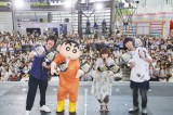 大盛況だった『クレヨンしんちゃん』ショー=東京・六本木ヒルズアリーナ(左)ヒャダイン、しんちゃん、矢島晶子、神谷浩史