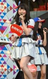 『熱闘甲子園』体感ステージに登場したAKB48・横山由依 (C)ORICON NewS inc.
