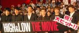 映画『HiGH&LOW THE MOVIE』大ヒット舞台あいさつに出席した(左から)鈴木伸之、青柳翔、AKIRA、岩田剛典、TAKAHIRO、登坂広臣(C)ORICON NewS inc.