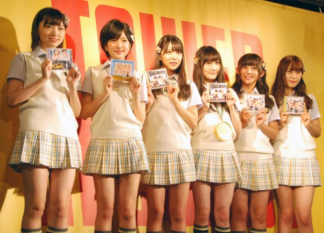 NMB48新曲「僕はいない」発売記念イベントを行ったNMB48(左から)太田夢莉、須藤凜々花、白間美瑠、矢倉楓子、薮下柊、渋谷凪咲(C)ORICON NewS inc.