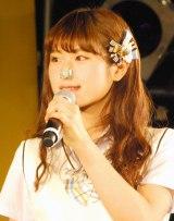 しっかり鼻栓をつけた渋谷凪咲=NMB48新曲「僕はいない」発売記念イベント (C)ORICON NewS inc.