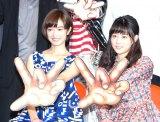ミュージカル『わたしは真悟』製作発表記者会見に出席した門脇麦(左)と高畑充希 (C)ORICON NewS inc.