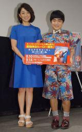 海外ドラマ『SUPERGIRL/スーパーガール<ファースト・シーズン>』特別試写会イベントに出席した(左から)岩崎恭子、加藤諒 (C)ORICON NewS inc.
