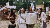 お祭りにやってきた三太郎