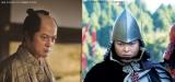 前作(左)よりパワーアップ! 『超高速!参勤交代 リターンズ』でデヴィッド・ボウイ風のメイクをした陣内孝則