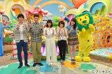 (左から)博多大吉、佐藤隆太、西野七瀬、生駒里奈、高山一実