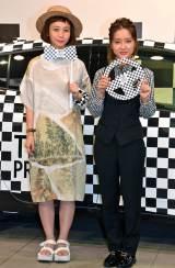 トヨタ『TRY!SHIBUYA! TRY!PRIUS』PRイベントに出演した(写真左から)三戸なつめ、生田佳那 (C)ORICON NewS inc.