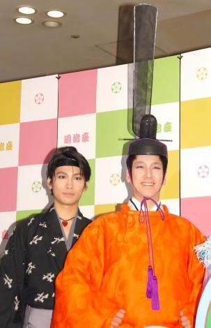 ミュージカル『TARO URASHIMA』公開ゲネプロを行った(左から)崎本大海、和泉元彌 (C)ORICON NewS inc.