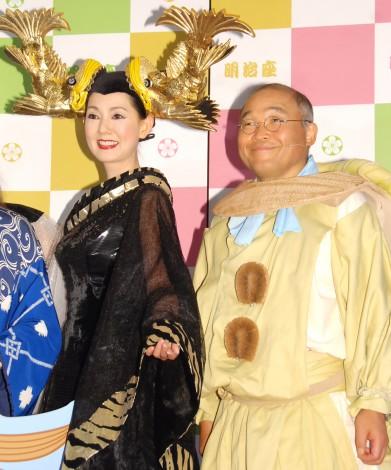 ミュージカル『TARO URASHIMA』公開ゲネプロを行った(左から)とよた真帆、斉藤暁 (C)ORICON NewS inc.