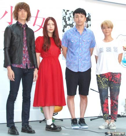 映画『少女』スペシャルトークショーに出席した(左から)GLIM SPANKY、アンジャッシュ・児嶋一哉、三島有紀子監督 (C)ORICON NewS inc.