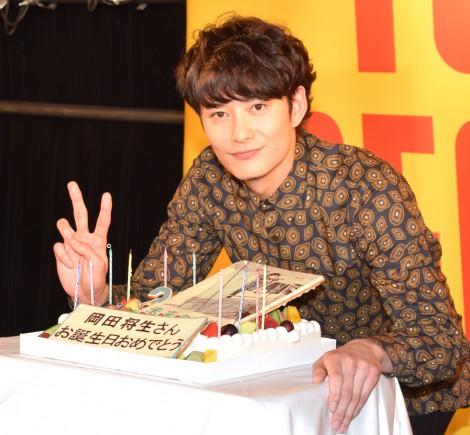 27歳の誕生日を迎えた岡田将生=単行本『未来の破片(はへん)』発売記念イベント(C)ORICON NewS inc.