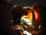 『大ゴジラ特撮王国 YOKOHAMA』で展示されている『ゴジラ FINAL WARS』(2004年)の海底軍 新・艦轟天号と怪獣・マンダ (C)ORICON NewS inc.