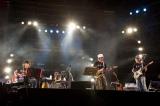 「RISING SUN ROCK FESTIVAL 2011 in EZO」に登場した、Char、奥田民生、山崎まさよし、斉藤和義による「四人の侍」 (C)森リョータ