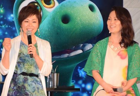 映画『アーロと少年』の日本版エンドソングを担当するKiroro(左から)金城綾乃、玉城千春 (C)ORICON NewS inc.