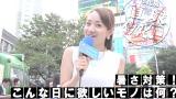 今日も暑い中、街頭インタビューを行う直球リポーター松原江里佳 (C)ORICON NewS inc.