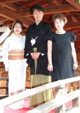 (左から)波乃久里子、市川月乃助、水谷八重子 (C)ORICON NewS inc.