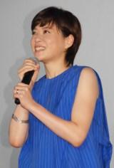 映画『青空エール』初日舞台あいさつに出席した上野樹里 左薬指に指輪も (C)ORICON NewS inc.