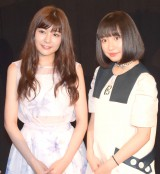 人生初の「MX4D」を体験した(左から)高橋胡桃、吉田凜音 (C)ORICON NewS inc.