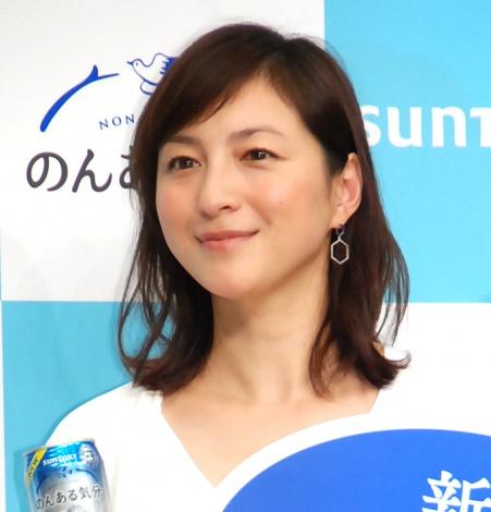 サントリー『のんある気分』新CM発表会に出席した広末涼子 (C)ORICON NewS inc.