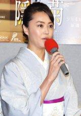 NHK BSプレミアムドラマ『隠れ菊』試写会に出席した観月ありさ (C)ORICON NewS inc.