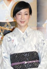 NHK BSプレミアムドラマ『隠れ菊』試写会に出席した緒川たまき (C)ORICON NewS inc.