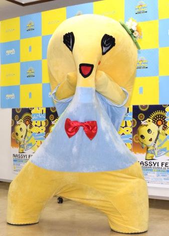 『ふなっしー夏祭り2016〜梨祭 NASSYI FES.〜』公演前の囲み取材に出席したふなっしー (C)ORICON NewS inc.