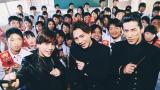 『ポッキーチョコレート』新CMに出演する(左から)岩田剛典、登坂広臣、小林直己