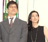 『とと姉ちゃん』クランクアップ取材会に出席した夫婦役の(左から)西島秀俊、木村多江 (C)ORICON NewS inc.